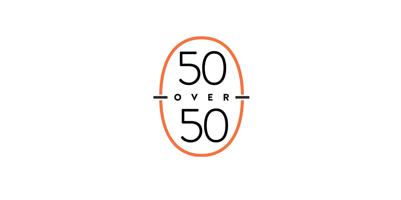 50 OVER 50 LOGO