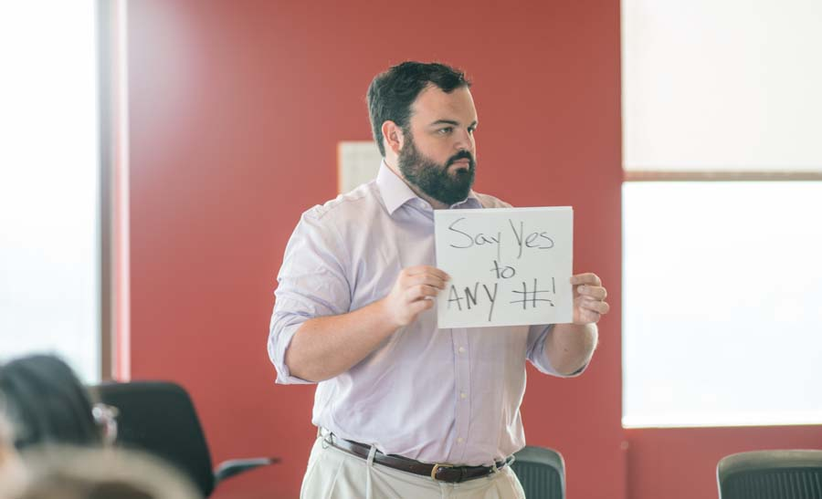 "Jake ""Say yes to any #"""