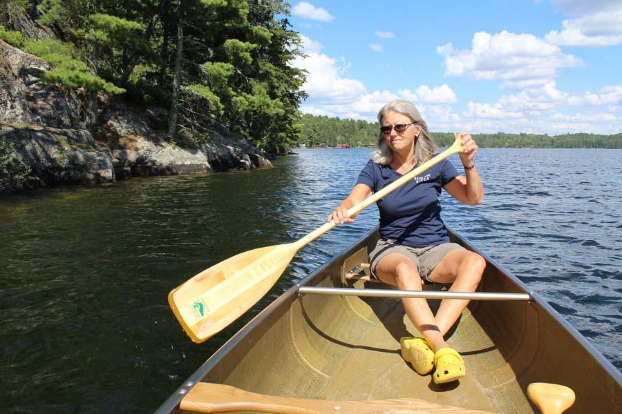 Rebecca canoeing