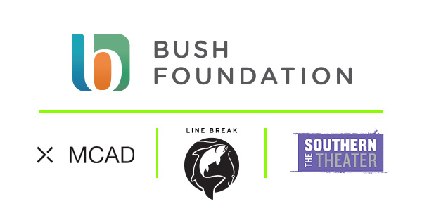 Bush Foundation, MCAD, Line Break Media, and The Southern Theater logos